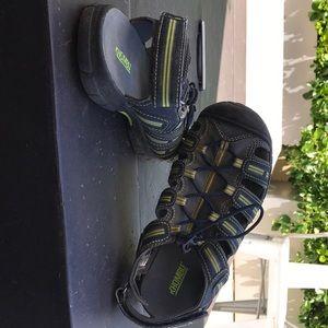 Blue, green and gray Khombu water shoes